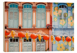 Wood  Colourful windows in Chinatown, Singapore - Matteo Colombo