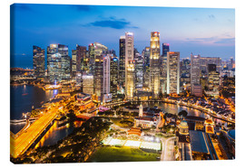Canvas  Singapore skyline at night - Matteo Colombo