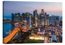 Canvas  Singapore skyline at sunset - Matteo Colombo