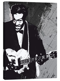 Canvas print  Chuck Berry black and white art print - 2ToastDesign