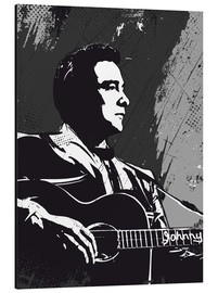 2ToastDesign - Johnny Cash black and white art print