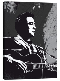 Canvas print  Johnny Cash black and white art print - 2ToastDesign