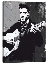 Canvas print  Elvis Presley black and white art print - 2ToastDesign