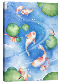 Canvas  Dancing fishes - Rebecca Richards