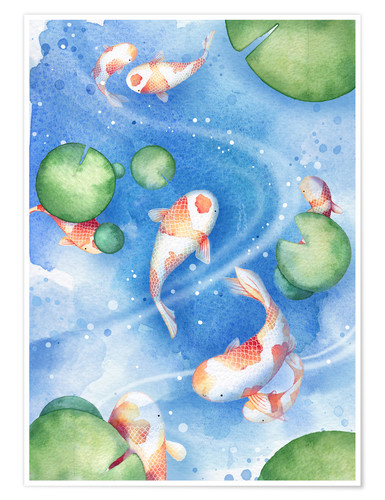 Premium poster Dancing fishes