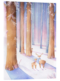 Acrylic glass  Little deer in the forest - Rebecca Richards