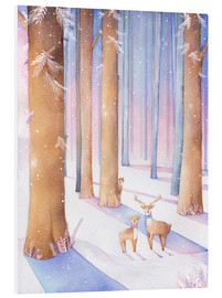 Foam board print  Little deer in the forest - Rebecca Richards