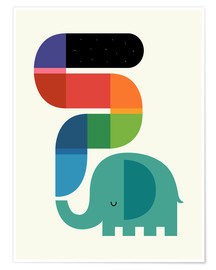 Poster  Rainbow Painter - Andy Westface