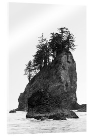Acrylic glass  Rocks at Second Beach in Olympic National Park, USA - Peter Wey