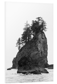 Foam board print  Rocks at Second Beach in Olympic National Park, USA - Peter Wey