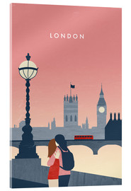 Acrylic print  London Illustration - Katinka Reinke