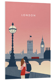 Foam board print  London Illustration - Katinka Reinke