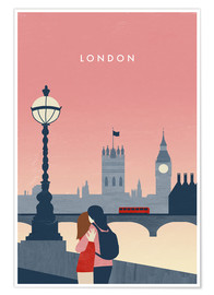 Premium poster  London Illustration - Katinka Reinke
