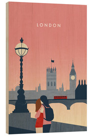 Wood print  London Illustration - Katinka Reinke