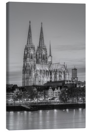 Canvas print  Cologne Cathedral black-and-white - Michael Valjak