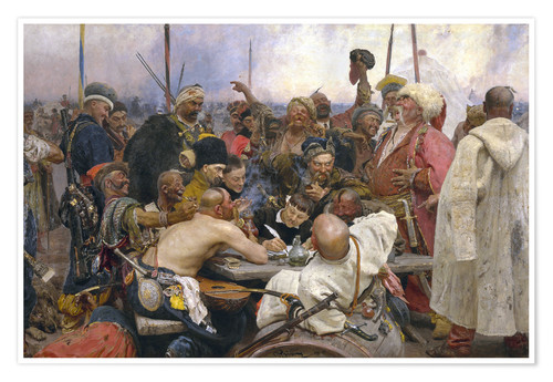 Premium poster Reply of the Zaporozhian Cossacks