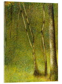 Acrylic print  The Forest at Pontaubert - Georges Seurat