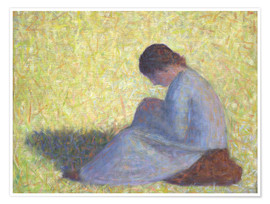 Premium poster Peasant Woman Seated in the Grass