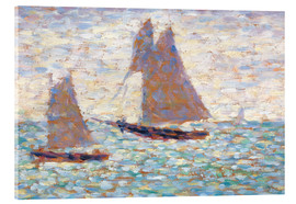 Acrylic print  Boats In Harbor - Georges Seurat