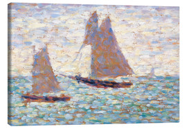 Canvas  Boats In Harbor - Georges Seurat