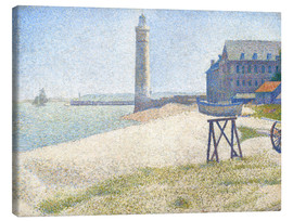 Canvas  Lighthouse in Honfleur - Georges Seurat