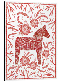 Alu-Dibond  Swedish Dala horse - Nic Squirrell