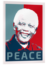 Acrylic print  Nelson Mandela Peace and Hope - Alex Saberi
