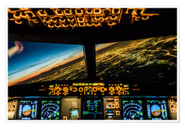 Premium poster  Airbus A320 Landing in Moscow, Russia - Ulrich Beinert