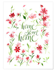 Premium poster Home sweet home
