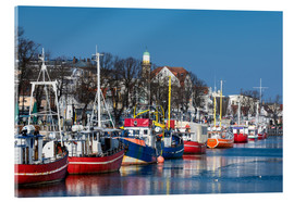 Acrylic print  Fishing boats in Warnemuende, Germany - Rico Ködder