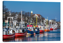 Canvas print  Fishing boats in Warnemuende, Germany - Rico Ködder