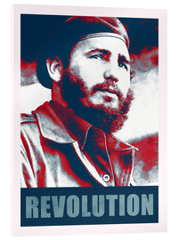 Acrylic glass  Fidel Castro revolution in Cuba - Alex Saberi