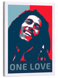 Canvas print  Bob Marley, One Love - Alex Saberi