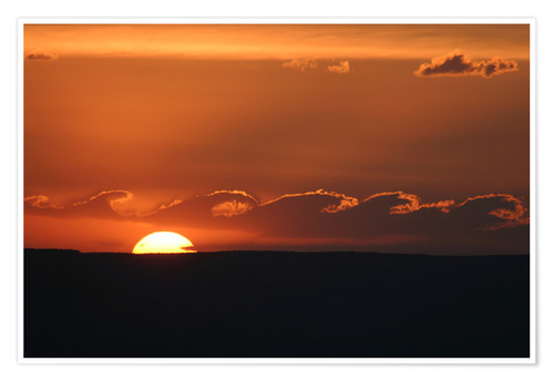 Premium poster Sunset at the Grand Canyon clouds waves