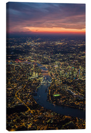 Canvas  Dusk over London - Ulrich Beinert