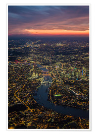 Premium poster Birds-eye view of London