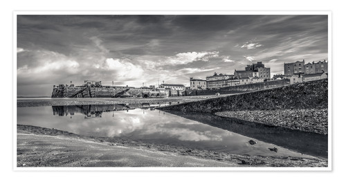 Premium poster Tenby Harbour Reflections