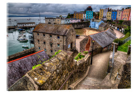 Acrylic glass  Down To Tenby Harbour - Simon West