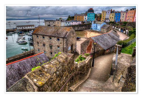 Premium poster Down To Tenby Harbour