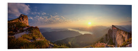 Foam board print  Sunrise  on Schafberg - Silvio Schoisswohl