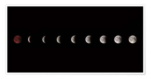 Premium poster Moon phases 2018