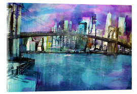 Acrylic print  New York Brooklyn Bridge - Johann Pickl