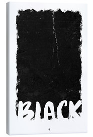 Canvas print  Black - Black Sign Artwork