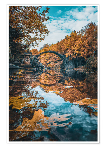 Premium poster fairytale bridge