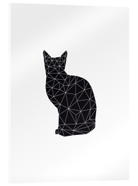 Acrylic print  Black Cat - Nouveau Prints