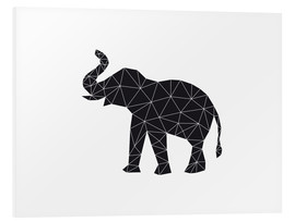 Foam board print  Black elephant - Nouveau Prints