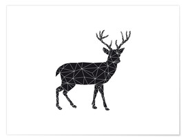 Nouveau Prints - Black Deer