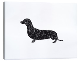 Canvas print  Black dachshund - Nouveau Prints