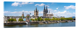 Acrylic print  Cologne Rheinufer with cathedral and town hall - Jan Christopher Becke