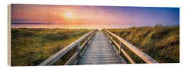 Wood print  Dunes panorama on the beach with wooden pier - Jan Christopher Becke